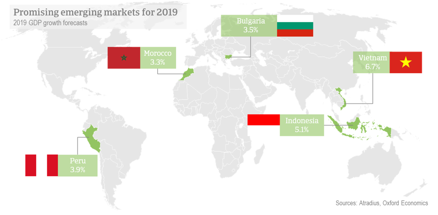 Promising Emerging markets for 2019